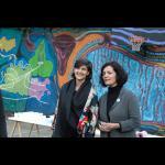 Ženski mural, mitohondrijski zid / otvoritev in zaključni festivalski piknik
