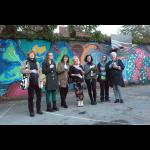 Mural by Women, Mitochondrial Wall, opening & picnic
